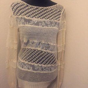 LC Lauren Conrad Multi texture knit top
